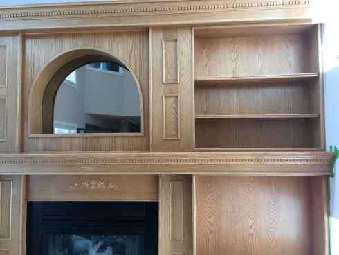 Oak Fireplace - Before Upgrade